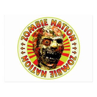Nación del zombi tarjetas postales