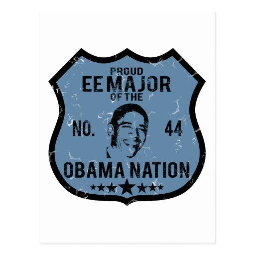 Nación importante de EE Obama Tarjeta Postal