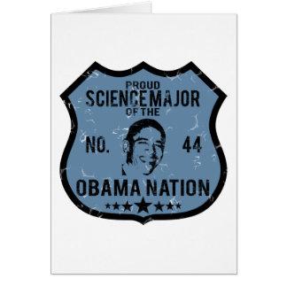 Nación importante de Obama de la ciencia Tarjeton