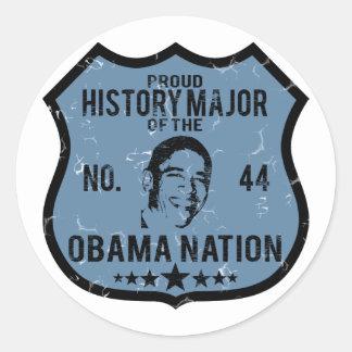 Nación importante de Obama de la historia Pegatina Redonda