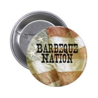 Nación los E.E.U.U. de la barbacoa (con un Q) Pin Redondo 5 Cm