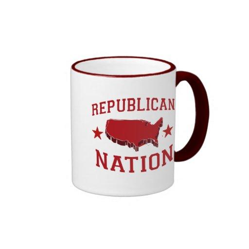 NACIÓN REPUBLICANA TAZAS DE CAFÉ