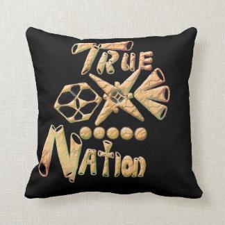 Nación verdadera del oro cojín