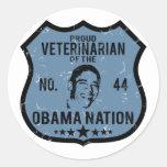 Nación veterinaria de Obama Etiqueta Redonda