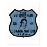 Nación veterinaria de Obama Tarjetas Postales