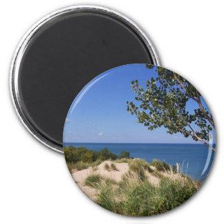 Nacional de las dunas de Indiana a orillas del lag Imán Redondo 5 Cm