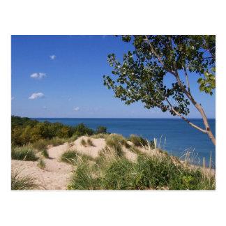 Nacional de las dunas de Indiana a orillas del lag Postal