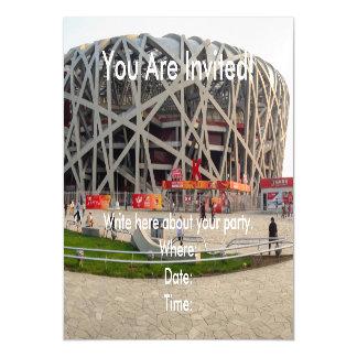 Nacional el estadio Olímpico de Pekín Invitaciones Magnéticas