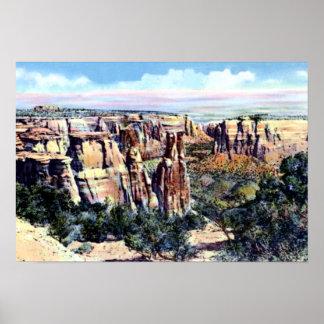 Nacional Monume de Colorado de los monolitos de Fr Impresiones
