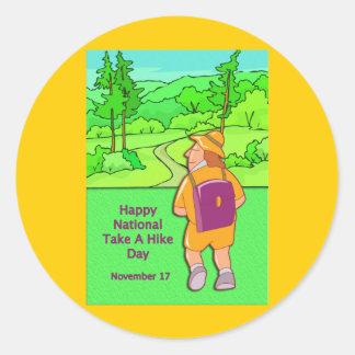 Nacionales felices tardan alza día el 17 de pegatina redonda
