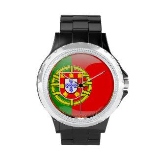 Nacionalidad colorida del país de la bandera fresc relojes de mano