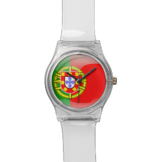 Nacionalidad colorida del país de la bandera fresc reloj de mano