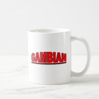 """Nacionalidades - """"gambiano """" taza de café"""