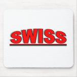 """Nacionalidades - """"suizos """" alfombrillas de ratones"""