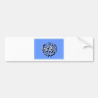 Naciones Unidas (bandera artística) Etiqueta De Parachoque