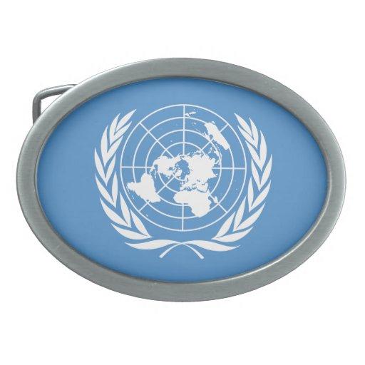 Naciones Unidas Hebillas De Cinturón Ovales