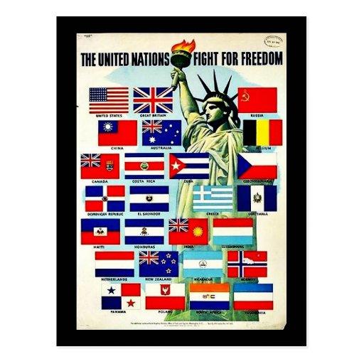 Naciones Unidas Tarjetas Postales