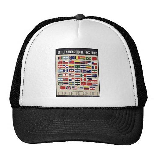 Naciones Unies de Naciones Unidas Gorros