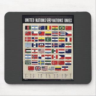 Naciones Unies de Naciones Unidas Alfombrillas De Ratón