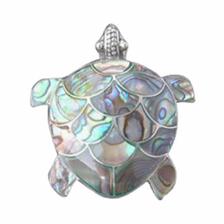 Nacre Sea Turtle Pin Cutout