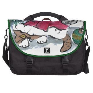 Nada considerar aquí dice el gatito en el gorra de bolsa para ordenador
