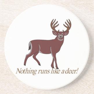 Nada corre como un ciervo posavasos cerveza