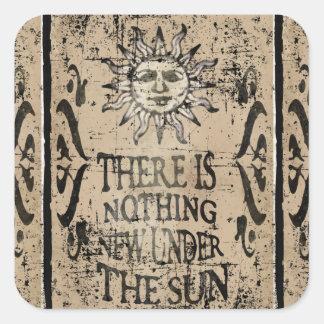 Nada de novo sob o sol adesivos quadrados