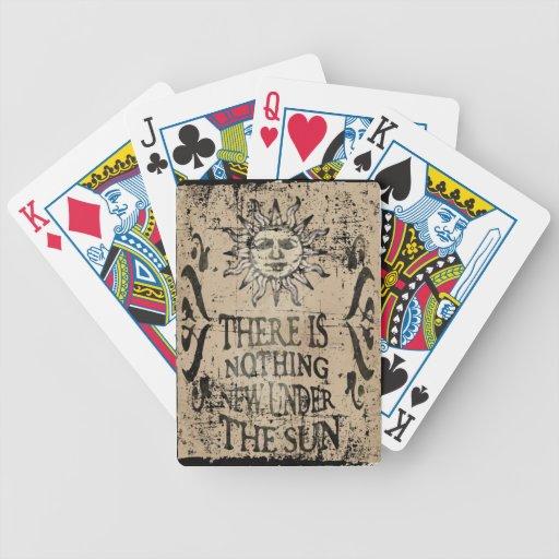 Nada de novo sob o sol baralho para poker