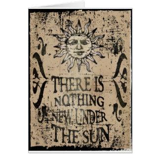 Nada de novo sob o sol cartão