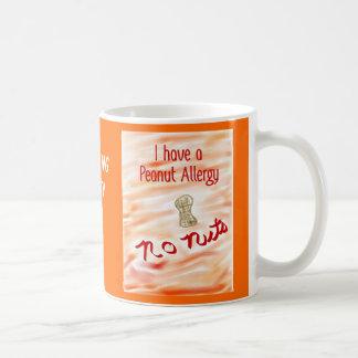 Nada de nuez para mí taza de café de la alergia