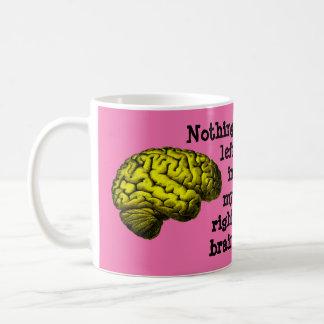 Nada dejada en mi cerebro derecho… taza