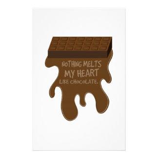 Nada derrite mi corazón como el chocolate papeleria personalizada