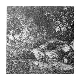 Nada. El acontecimiento dirá por Francisco Goya Azulejo Cuadrado Pequeño