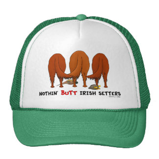 Nada empalma a los setteres irlandeses gorro de camionero