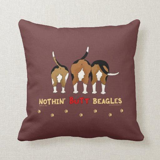 Nada empalma beagles almohadas