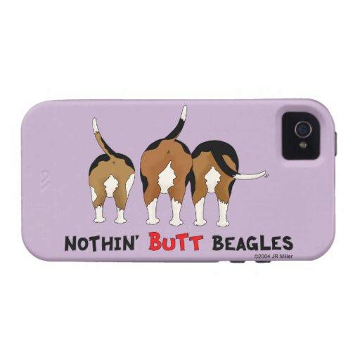 Nada empalma beagles iPhone 4 carcasas