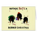Nada empalma el navidad de un Berner Felicitación