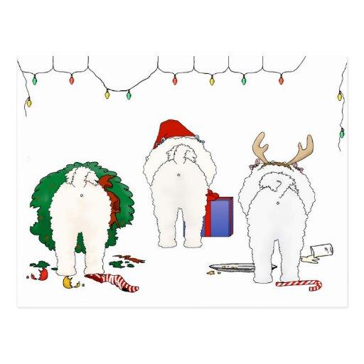 Nada empalma el navidad de un Bichon Postales