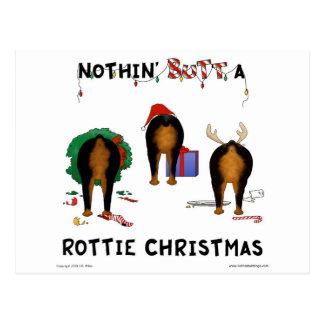 Nada empalma el navidad de un Rottie Postal