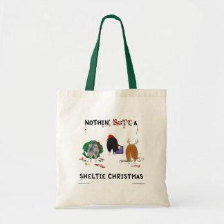 Nada empalma el navidad de un Sheltie Bolsas
