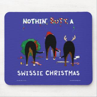 Nada empalma el navidad de un Swissie Tapete De Ratones