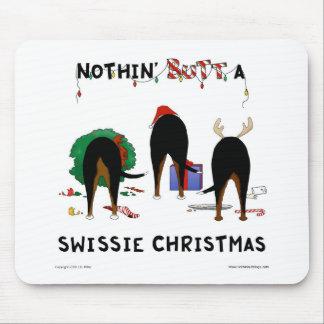 Nada empalma el navidad de un Swissie Alfombrilla De Ratones