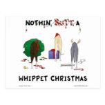 Nada empalma el navidad de un Whippet Tarjeta Postal