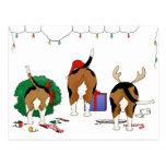 Nada empalma navidad de un beagle tarjetas postales