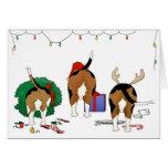 Nada empalma navidad de un beagle tarjetas