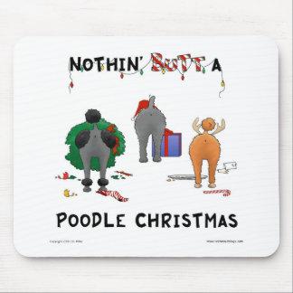 Nada empalma navidad de un caniche tapetes de ratón