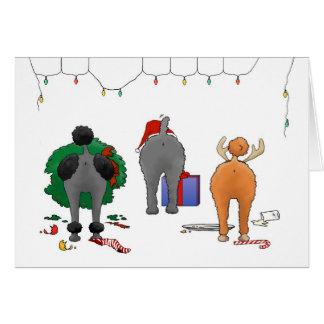 Nada empalma navidad de un caniche tarjeta de felicitación