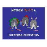 Nada empalma navidad de un perro pastor tarjeta postal