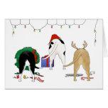 Nada empalma navidad de un pitbull tarjetas