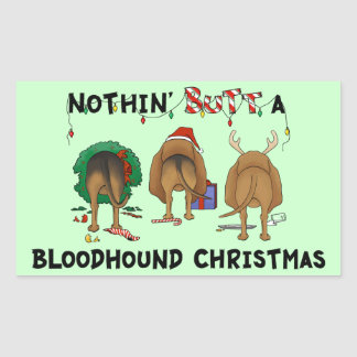 Nada empalma navidad de un sabueso pegatina